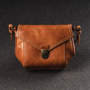 YAAGLE Women Cute Genuine Leather Flap Shoulder Bag YG7309 - YAAGLE.com