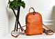 YAAGLE Girls' Simple Real Leather Student Zipper Backpack YG209 - YAAGLE.com