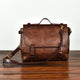 YAAGLE Men's Tanned Leather Business Briefcase Messenger Handbag YG8568 - YAAGLE.com