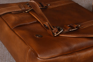 YAAGLE Men's Tanned Leather Business Briefcase Messenger Bag YG9042 - YAAGLE.com