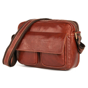 YAAGLE Men's Portable Real Leather Business Shoulder Bag YG1043X - YAAGLE.com