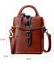 YAAGLE Female Tanned Leather Handmade Stitching Cross Body Bag YG10106 - YAAGLE.com
