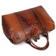 YAAGLE Unisex Crack Pattern Cow Leather Large Handbag YG6003B - YAAGLE.com