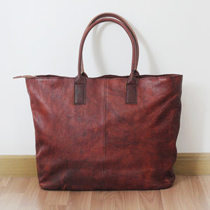 YAAGLE Women Retro Large Capacity Cowhide Shopping Bag YGPD2077 - YAAGLE.com