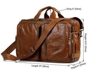 YAAGLE Multi-functional Real Leather Hand Briefcase Business Backpack YG7014 - YAAGLE.com