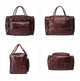 YAAGLE Unisex Large Tanned Leather Duffle Handbag YG6464 - YAAGLE.com