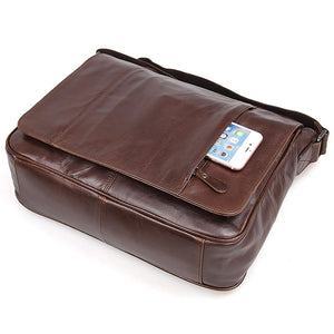 YAAGLE Men's Vintage Real Leather Flap Messenger Bag YG7338 - YAAGLE.com