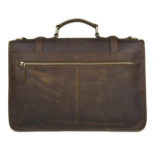 YAAGLE Exquisite Crazy Horse Leather Briefcase 14 Inch Laptop Business Handbag YG7397 - YAAGLE.com