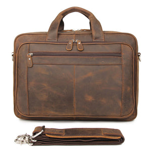 YAAGLE Men's Real Leather Zipper Business Handbag YG7320R - YAAGLE.com