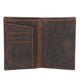 YAAGLE Men's Vintage Crazy Horse Leather Passport Card Holder YG8436 - YAAGLE.com
