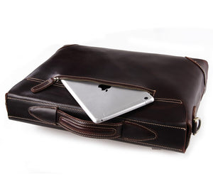 YAAGLE Men's Genuine Leather Business Briefcase Handbag YG7228Q - YAAGLE.com