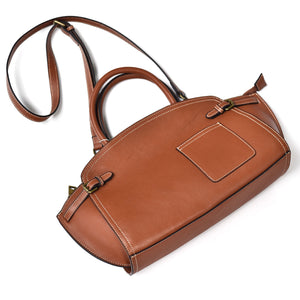 YAAGLE Women Retro Cowhide genuine leather bags Doctor bag Handbag YG8816 - YAAGLE.com