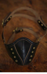 YAAGLE HORWEEN Vegetable Tanned Cowhide Handmade Riding Mask YG9907 - YAAGLE.com