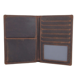 YAAGLE Multifunction Travel Cover Genuine Leather Card Passport Holder Wallet YG1266 - YAAGLE.com
