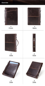 YAAGLE  New Arrival Retro Crazy Horse Texture Zipper Multifunctional Tablet PC Protective Leather Case for 11 / 10.5 / 9.7 inch Tablet YG0830
