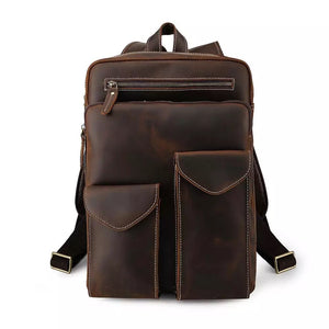 YAAGLE Latest Design Retro Laptop Bagpack Full Grain Leather Backpack Men YG5433 - YAAGLE.com