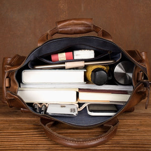 YAAGLE leather office handbag messenger men's leather laptop bag YG0821