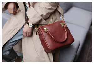 YAAGLE Female Vintage Handmade Real Leather Flap Handbag YG8854 - YAAGLE.com