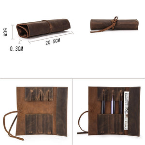 YAAGLE Leather Roll Pencil Case YG6578