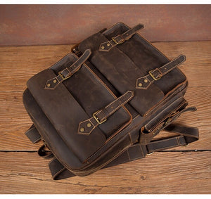 YAAGLE Vintage Leather Backpack YG9980 - YAAGLE.com