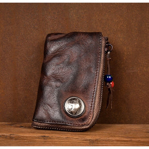 YAAGLE Vegetable Tanned Cowhide Key Bag YG0012 - YAAGLE.com