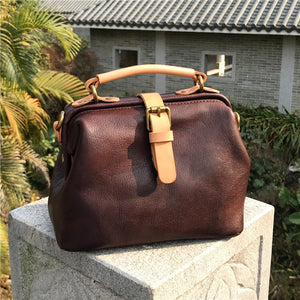 YAAGLE Women Real Leather Handmade Shoulder Bags Tote YGBR6003 - YAAGLE.com