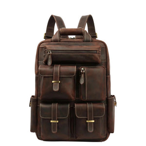 YAAGLE New Crazy Horse Leather Backpack YG8011 - YAAGLE.com