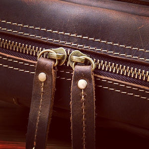 Vintage Full Grain Leather Small Sling Backpack YG1121 - YAAGLE.com