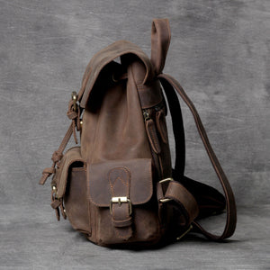 YAAGLE New Crazy Horse Leather Backpack YG8034 - YAAGLE.com