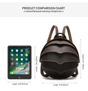 YAAGLE Personality Horse Leather men's bag leather beetle women's backpack fashion street bag YG6578 - YAAGLE.com