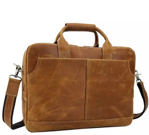 YAAGLE  Genuine Leather Men's Briefcase Messenger Tote Bag Fit 15.6 Laptop  YG7732 - YAAGLE.com