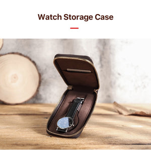 YAAGLE  Custom personalized Luxury Utility genuine leather watch case organizer YG1121