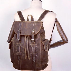 YAAGLE New Crazy Horse Leather Backpack YG8012 - YAAGLE.com