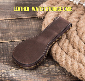 YAAGLE leather  watch case for travel YG6554