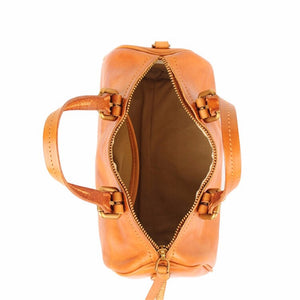 YAAGLE Women Tanned Leather Boston luggage Tote bag YG8815 - YAAGLE.com