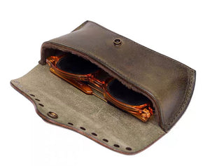 High quality  leather sunglasses box eyeglasses man and lady leather case for glasse YG03312 - YAAGLE.com