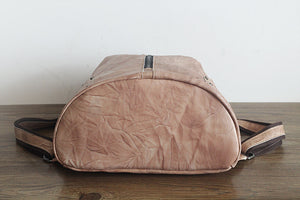 YAAGLE Girls' Retro Handmade Real Leather Travel Backpack YGPD2116 - YAAGLE.com