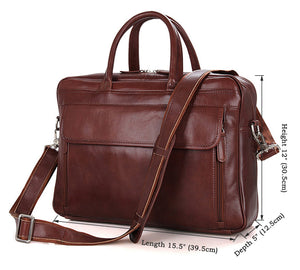YAAGLE Genuine Leather Business Handbag Briefcase for Men YG7333 - YAAGLE.com