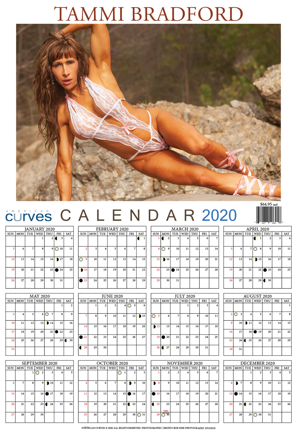 Tammi Bradford-13x19 in. 2020 Wall Calendar on high-quality paper