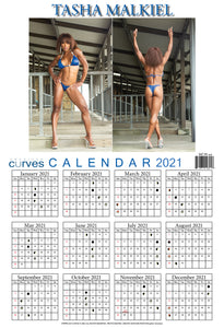 Tasha Malkiel-13x19 in. 2021 Wall Calendar on high-quality paper