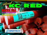 "These are the smaller 1.125"" diameter full 48"" rods from Spartech. This is the REAL KC Red and not the fake imported copy."