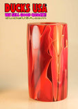"ACRYLIC BARREL - KILLIAN RED Exotic Swirl 2.7"" x 1.4"" OD & 5/8"" Bore - 1 BARREL"
