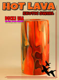 "ACRYLIC BARREL - HOT LAVA Exotic Swirl 2.7"" x 1.4"" OD & 5/8"" Bore - 1 BARREL"