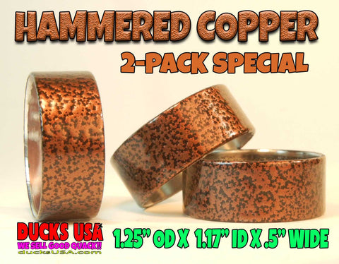 BANDS - POWDER COAT SERIES HAMMERED COPPER Style 2-PACK
