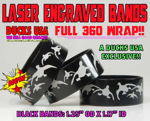 "BANDS - 360 FLYING MALLARDS BLACK 1.25"" OD X 1.17"" ID X .5"" WIDE 3-PACK"