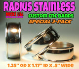 BANDS - STAINLESS STEEL RADIUS Custom CNC Bands DUCKS USA EXCLUSIVE 3-PACK