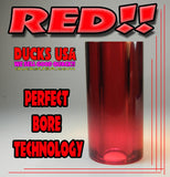 ACRYLIC BARREL - TRANSPARENT RED Barrel Blank PERFECT BORE TECHNOLOGY