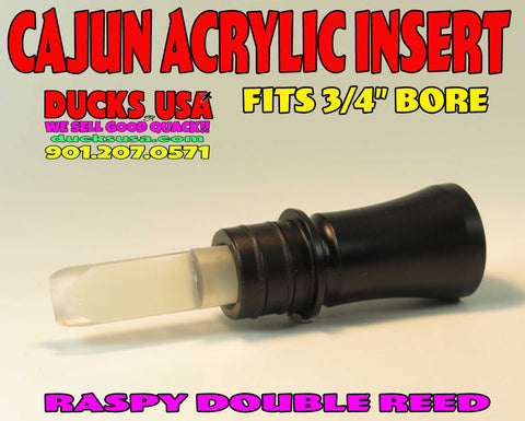 INSERT - ACRYLIC CAJUN Style Double Reed Custom CNC Insert Designed for Ducks USA