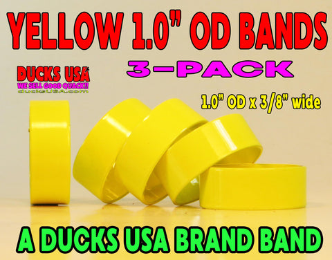 "BANDS - 1.0 ALUMINUM YELLOW Powder Coated 1.0"" OD X .94"" ID X 3/8""  3-PACK"