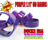 "BANDS - 1.10"" STAINLESS PURPLE POWDER COATED Special 3-PACK - New Powder Coated Series!!"